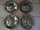 "(GQST60)(4) Phoenix USA 16"" Stainless Trailer Wheel Hub Caps Rim Covers SHARP!!"