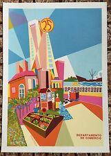 Vera Cortes Poster Serigraph 25 Aniversario Comercio DIVEDCO Puerto Rico 1985
