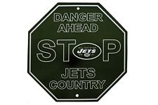 NFL New York Jets Stop Sign Room Bar Decor 12 x 12