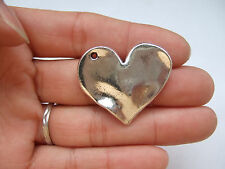 4 x Tibetan Silver Large Love Heart Shape Charms Pendants Necklace Gift 33x24mm