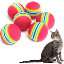 FD3254 Colorful Pet Cat Kitten Soft Foam Rainbow Play Balls Activity Toys ~2PCs☆