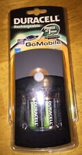 Duracell Go Mobile Charger with 2 AA 2 AAA Rechargeable Batteries & Car Adapter