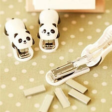 Adorable Panda Office Student Mini School Home Paper Document Stapler Utility