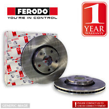 Ferodo Front Brake Discs Pair Akebono For Subaru Forester SG5 2.0 XT Turbo EJ205