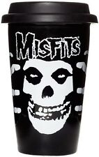 Misfits Crimson Ghost Ceramic Tumbler Black Punk Rock Kitchen Housewares NEW