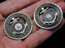 U.S. Navy / Core Values - USN Challenge Coin w/Free Two Headed Quarter coin