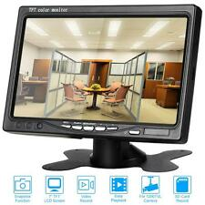 7 In HD TFT-LCD Car Rearview Monitor CCTV Video Record Support 64G SD Card T3C2
