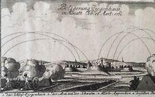 Ziegenhain Belagerung in Monath Feb et Mart 1761  Kupferstich   LS15