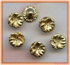 Darling Gold Metallic VINTAGE Flower BUTTONS Plastic Pansy Charms Dangles lot