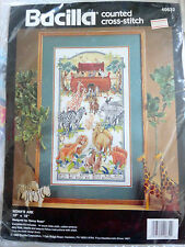 NEW Bucilla Noah's Ark Cross Stitch Kit by Nancy Rossi Zebra Lion Camel Elephant