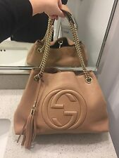 BRAND NEW!! AUTHENTIC Gucci Soho Leather Chain Shoulder Bag in Rose Beige