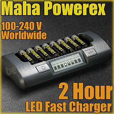 Maha PowerEx MH-C800S Charger 8 AA 2700 mAh and case
