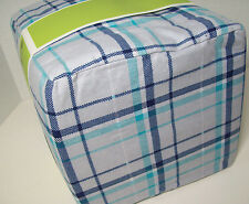 Circo Blue Gray Plaid Cotton Flannel Full Sheet Set New