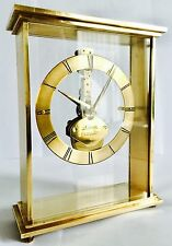 Rare Vintage Kaiser 7 Jewels 8 Day Gold Plated Brass West German Skeleton Clock