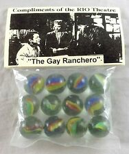 RIO THEATRE GAY RANCHERO CLASSIC TOY GLASS MARBLES PAPER & PLASTIC UNOPENED BAG