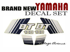 YAMAHA DT100 ENDURO FUEL TANK + SIDE COVER DECAL [ID222]