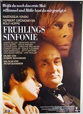 Frühlingssinfonie NASTASSJA KINSKI, H. GRÖNEMEYER - Filmplakat DIN A1 (gerollt)