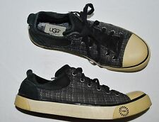 UGG AUSTRALIA EVERA 1798 SZ 8 M BLACK SUEDE FABRICSNEAKERS TENNIS WALKING SHOES
