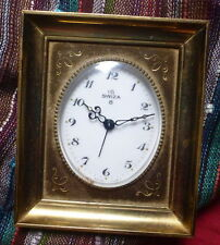WATCH CLOCK MONTRE HORLOGE SWIZA UTI 8 DAYS JOURS SWISS MADE ALARM ANCIEN BRONZE