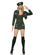 MILITARY ARMY SERGEANT COSTUME LEG AVENUE BERET JACKET DRESS DOMINATRIX S UK 8