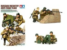 Tamiya 35306 1/35 Military Figure Model Kit WWII Russian Infantry Anti-Tank Team