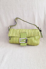 *FENDI* LIME GREEN BEADED MAMA BAGUETTE SHOULDER BAG