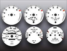 1986-1991 Porsche 944 Automatic Dash Instrument Cluster White Face Gauges