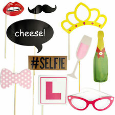 10Pcs Fashion Hen Party Photo Booth Props Kit Night Games Accessories Favors DIY