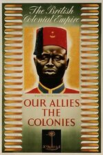 WW1 RECRUITING POSTER ROYAL WEST AFRICAN FRONTIER BRITISH EMPIRE NEW A4 PRINT
