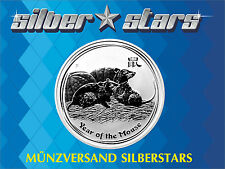 1 OZ Silber/ Silver Australien 2008  Lunar II -Jahr der Maus - Year of the Mouse