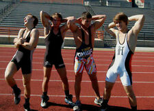 Athletic College Track Star Jocks Posing Wrestling Singlets Dudes PHOTO 4X6 N13
