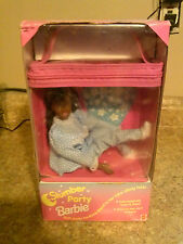 RARE 1994 Slumber Party African American Barbie - Soft Body - Eyes Open & Close