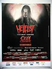 PUBLICITE-ADVERTISING :  HELLFEST 2011  2010 Ozzy osbourne,Scorpions,Opeth…