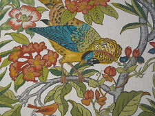"GP & J BAKER CURTAIN FABRIC DESIGN ""Imperial Pheasant"" PER METRE FUCHSIA/MULTI"