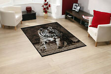 Quality Tiger Rug 115cm x 160cm Jungle Safari Animal Print Berclon Twist