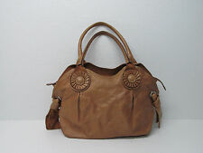 CROMIA MADE IN ITALY TAN GENUINE LEATHER SHOULDER BAG SATCHEL HANDBAG PURSE