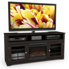 Sonax West Lake Collection Wood Dark Espresso Fireplace 60-inch Entertainment Ce