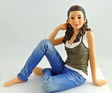 Dolls House Miniature 1:12 Scale People Modern Resin Figure Lady Woman Sitting