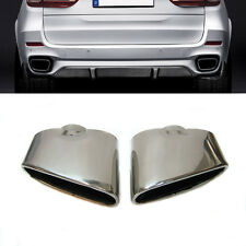 New Bmw X5 E70 Dual Chrome Exhaust Pipe Muffler Tip Stainless Steel
