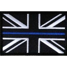 Thin Blue Line Police Union Jack Velcro Backed Badge / Patch 75mm x 50mm TRF