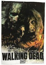 Authentic The Walking Dead Illustrated Zombies Cloth Wall 84X60 Banner Poster