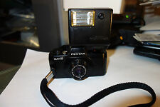Pentax auto 110 film camera with flash working smalles slr in the world 24 2.8