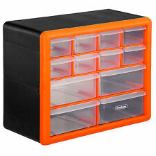 VonHaus 12 Multi Drawer Organiser Nail Bolt Screw Craft Bits Storage Cabinet