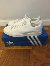 New In Box Adidas Stan Smith Primeknit Triple White Men's Size 8