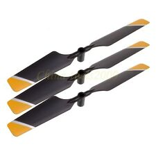 3xTail Blade of Double Horse RC DH 9101 Helicopter Spare Parts 9101-21 Yellow