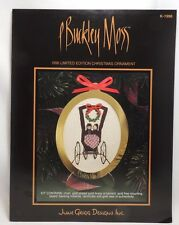 P Buckley Moss 1996 Christmas Ornament Cross Stitch Pattern Chart Only K-1996