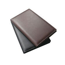 New Pu Leather Lichee Pattern Wallet Bill Document Files Holder Money Pen Clip