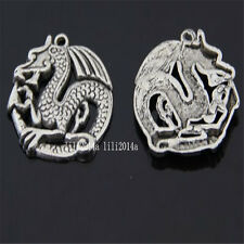 5pc Tibetan Silver dragon Charm Beads Pendant Findings wholesale  PL520