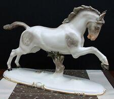 Nymphenburg Aufsteigendes Pferd 1915 Entwurf von Kärner handbemalt 532 8 !!!