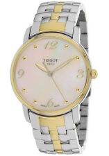 Tissot Women's Round Mop Dial Stainless Steel Watch T0522102211700